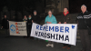 Before dawn at the Hiroshima Day vigil