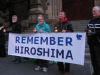 Candles at Hiroshima day vigil